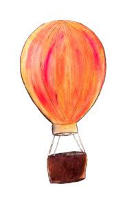 Egyedi póló minta - hőlégballon
