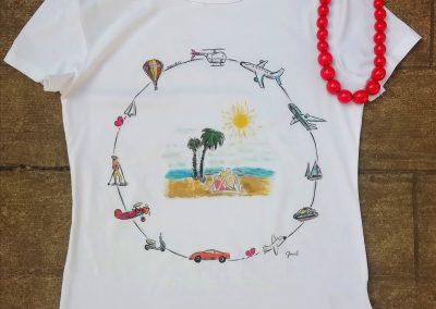 egyedi festett póló