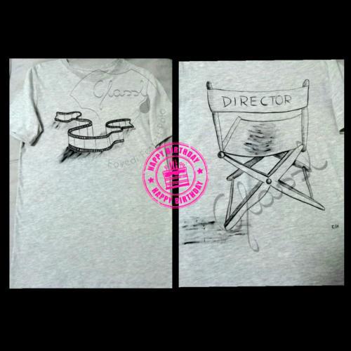 Ajándék férfiaknak - festett egyedi férfi póló  - rendező.