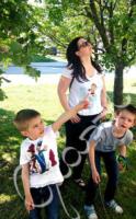 Páros pólók - anyáknak, családoknak - egyedi, kézzel festett póló
