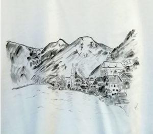 Egyedi szülinapi póló - Hallstatt