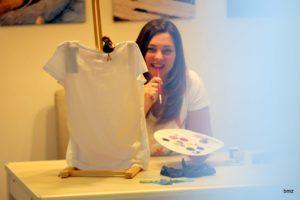 egyedi festett póló születésnapra, ajándékba