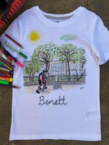 egyedi festett fiú póló születésnapra, ajándékba