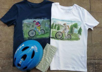 egyedi festett páros póló születésnapra, ajándékba