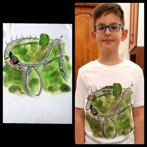 egyedi kézzel festett gyerek póló