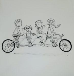 Egyedi festett póló családnak születésnapra, ajándékba