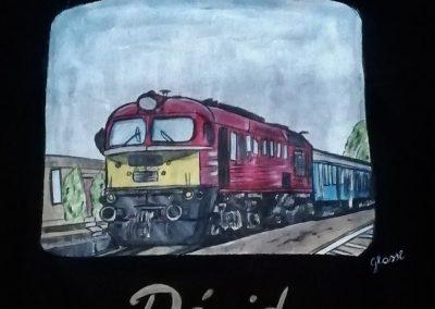 Vonatmánia gyerek póló