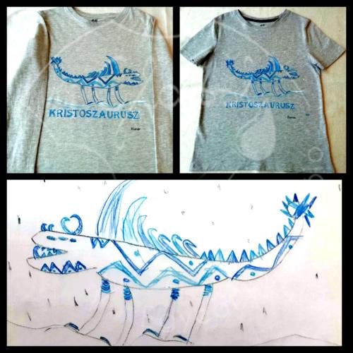 Állatos pólók - dinós póló fiúknak.