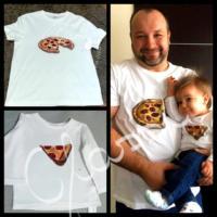 Ajándék Apáknak - festett egyedi férfi póló - pizzás. - pizzás.