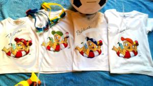 Családi pólók - festett egyedi póló testvéreknek.